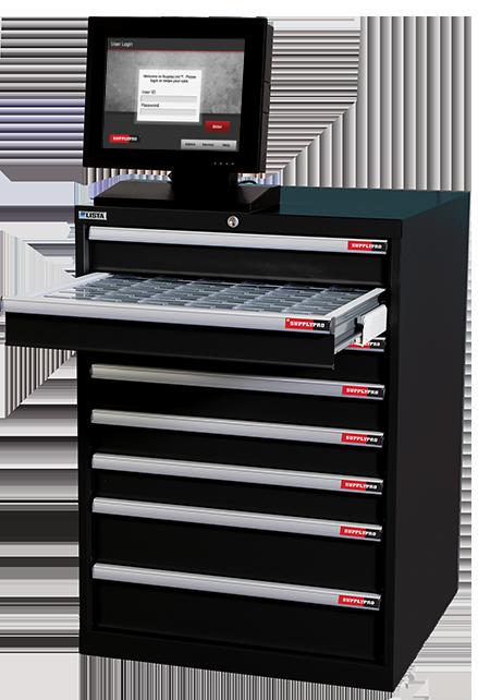 SupplyPro SmartDrawer Black Inventory Management Solution